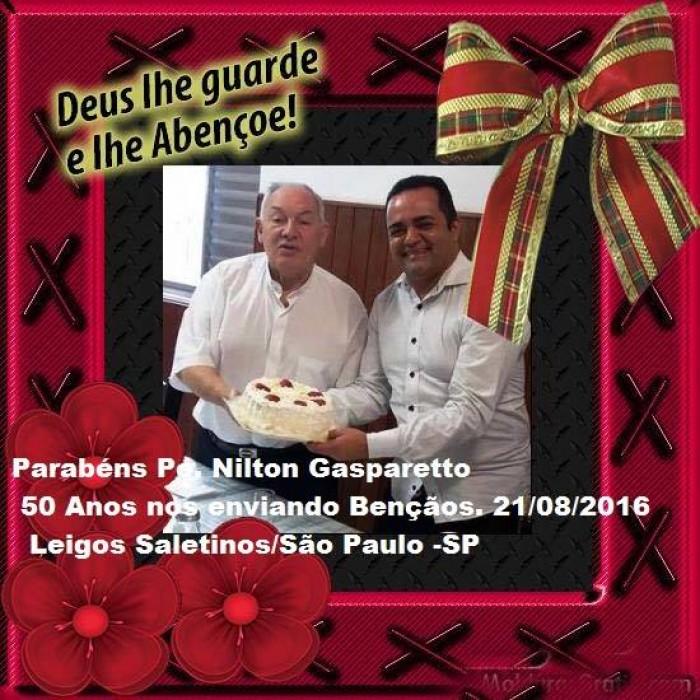 PADRE NILTO AFFONSO GASPARETTO, MS 50 ANOS DE SACERDÓCIO