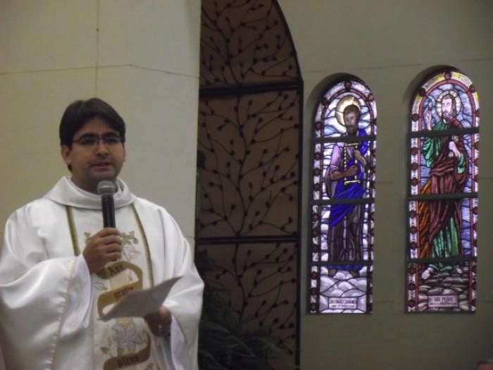 Pe. Daniel Aguirre visita o Santuário Salette/SP