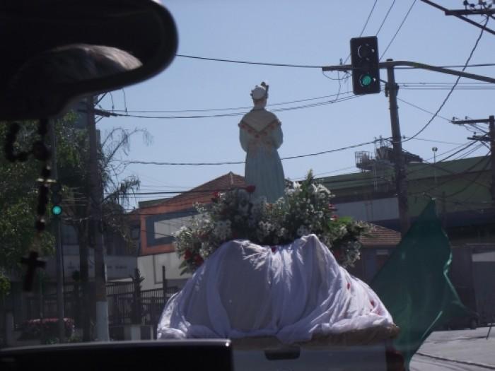 Carreata pelas ruas do bairro divulgação Festa N.Sra. da Salette 2017