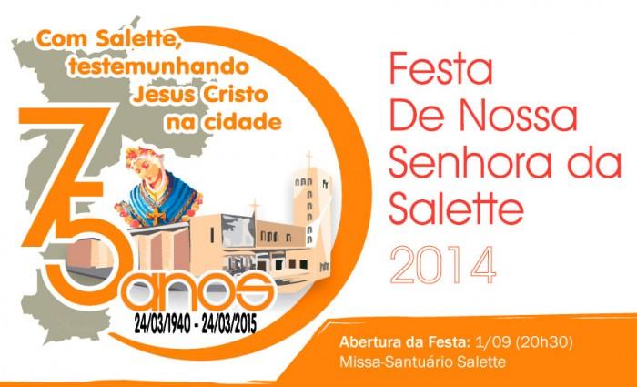 Programação da Novena e Festa 2014
