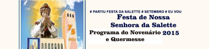 Festa de Nossa Senhora da Salette 2015